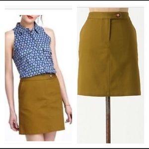 Anthropologie Vanessa Virginia Pickstitched Skirt